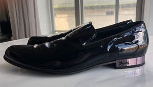 GUCCI, Black Patent Leather Moccasins